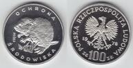 100 Zlotych Silber 1978 Polen Biber, Probe PP  169,00 EUR  zzgl. 6,00 EUR Versand