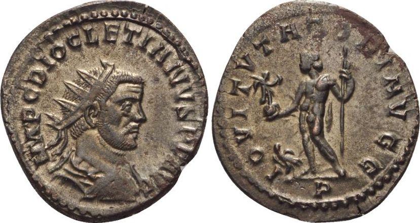 Römische Kaiserzeit, Diocletianus, Antoninian 285, ss+