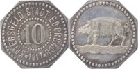 Ag-Abschlag (achteckig) vom 10 Pfennig K 1...