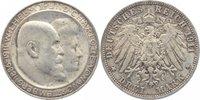 3 Mark 1911  F Württemberg Wilhelm II. 189...