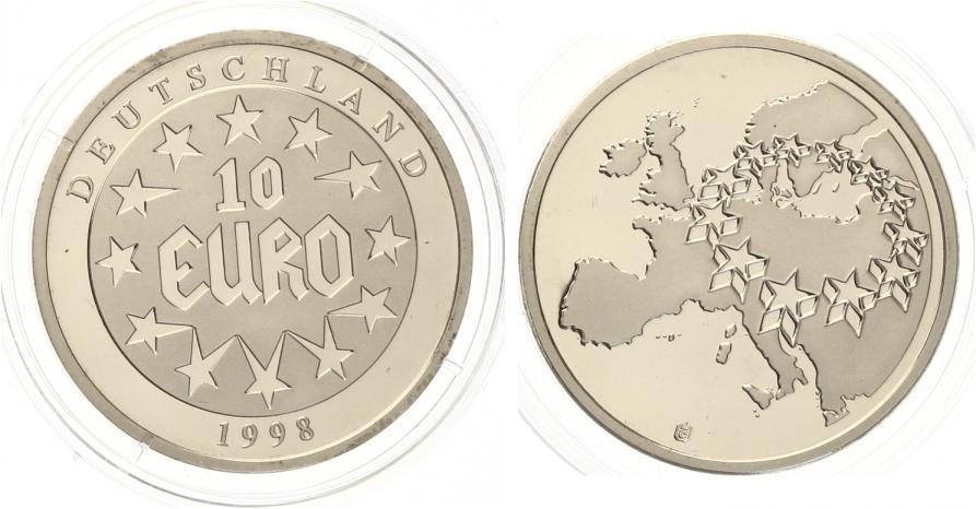 1998 10 Euro Deutschland Medaille Cuni Pp Im Shop Muenzzentrum Duerr
