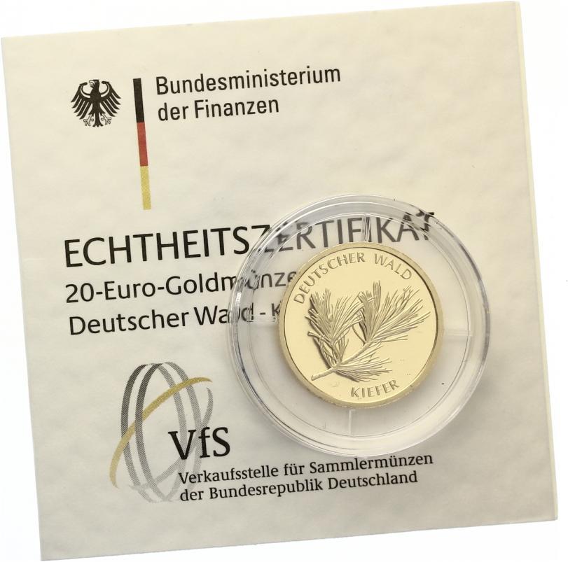 2013 A 20 Euro Kiefer Ohne Zertifikat St Ohne Echtheitszertifikat