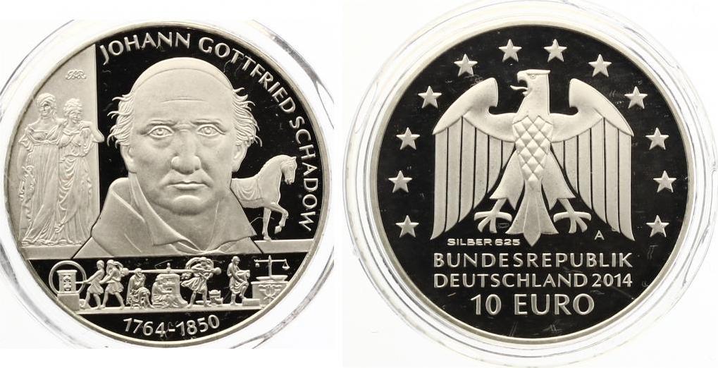 2014 10 Euro Schadow Proof Kratzer Nur Auf Folie Nicht Auf Münze
