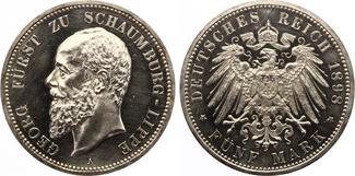 1898  5 Mark Schaumburg Lippe 1898 Jaeger 165 PP leicht berieben selten !