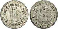 1917  Pförring - Zink vernickelt 1917 (Funck 422.2) 10 Pfennig  vz  65,00 EUR  Excl. 7,00 EUR Verzending