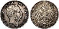 1902  5 Mark Sachsen 1902 Albert auf den Tod vz+ feine Patina winzige ... 185,00 EUR  +  7,00 EUR shipping