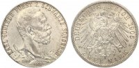 1905  2 Mark Schwarzburg Sondershausen 1905 25 jähriges Regierungsjubi... 115,00 EUR  Excl. 7,00 EUR Verzending