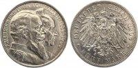 1906  5 Mark Baden 1906 goldenen Hochzeit vz  175,00 EUR  Excl. 7,00 EUR Verzending