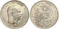 1903  5 Mark Georg von Sachsen ss-vz min Rf  100,00 EUR  Excl. 7,00 EUR Verzending
