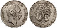1889  5 Mark Sachsen ss+  225,00 EUR  +  7,00 EUR shipping