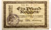 1923  Stralsund Ein Pfund Roggen Goldwähr...
