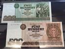 1985  DDR 200 Mark 500 Mark Geldschein 1