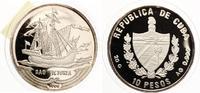 """1994  Kuba 10 Pesos Karavelle """"Victo..."""