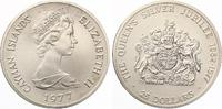 1977  Cayman Islands 25 Dollars Silberhoc...
