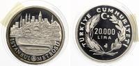 1989  TÜRKEI 20000 Lira Silber Istanbul M...