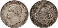 Sachsen Vereinstaler  1860 Johann ss ka...