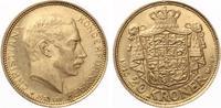 1913  Dänemark 20 Kroner 1913 ChristIAN X vz