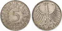 1958 J  5 DM 1958 J Silberadler ss-vz selten