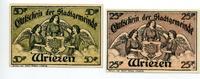 1921-1922  Wriezen 25 Pfennig - 50 Pfenni...