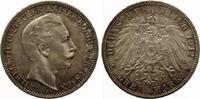1912  3 Mark Preussen vz-st feine Patina