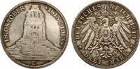1913  3 Mark Völkerschlacht fast Stempelg...