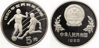1989  China 5 Yuan 1989 Fussball WM 1990 pp
