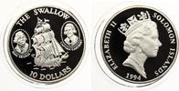 1994  Solomon Inseln 10 Dollars 1994 The Swallow pp  25,00 EUR  +  4,00 EUR shipping