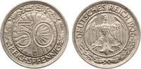 1936 D  50 Reichspfennig vz