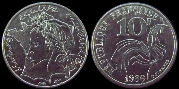 ca FRANCE 10 francs JIMENEZ 1986