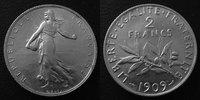 1909 France 2 Francs Semeuse de Roty 1909...