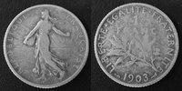 1903 France 1 Francs Semeuse de Roty 1903, G.467 TB Rare!   75,00 EUR  +  6,00 EUR shipping