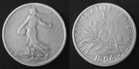 1904 France 1 Franc Semeuse de Roty 1904, G.467 TB à TTB s-ss  9,50 EUR  +  6,00 EUR shipping