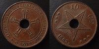 1889 Congo Belge Congo Belges, Belgie, 10 centimes 1889, petits coups ... 20,00 EUR  +  6,00 EUR shipping