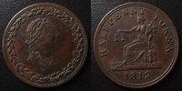 1812 Token Token, Half penny 1812, Lower Canada, 27,5 mm TTB+ ss+  30,00 EUR  +  6,00 EUR shipping