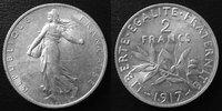 1917 France 2 Francs Semeuse de Roty 1917, G.532 SUPERBE vz  9,50 EUR  +  6,00 EUR shipping