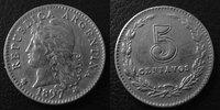 1897 Argentine, Agentina ARGENTINE, ARGENTINA, 5 centavos 1897, KM.34 ... 5,50 EUR  +  6,00 EUR shipping