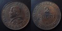 1866 R Vatican, papal states VATICAN, Pie IX, Pius IX, 2 soldi 1866 R,... 45,00 EUR  +  6,00 EUR shipping