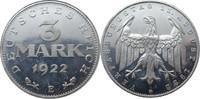 3 Mark 1922 E Deutschland J303 3 Mark &quo...