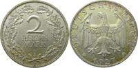 2 Mark 1927 A Deutschland J320 2 Mark &quo...