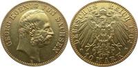 10 Mark Gold 1904 E Deutschland Sachsen J2...