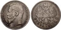 1 Rubel 1898 ** Russland Nikolaus II. 1894...