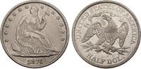 1/2 Dollar 1876 USA Half Dollar ss+, berieben