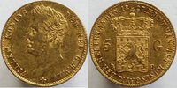 5  Gulden 1827 Netherlands 1827 GOLD 5 GUL...