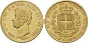 20 Lire 1839, Italien, Sardinien, Carlo Alberto, 1831-1849, ss+