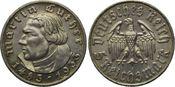 5 Reichsmark 1933, Drittes Reich, Martin Luther, vz