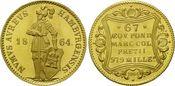 Dukat 1864 (NP 1964), Hamburg, Freie und Hansestadt - Nachprägung st
