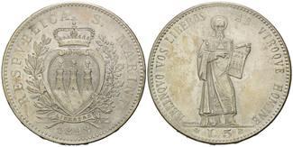 5 LIre 1898 R San Marino, Republik unter dem Schutz Italiens, 1862-1946, vz