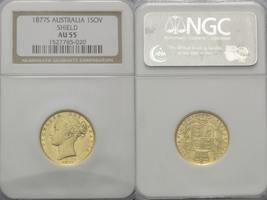 Australien, Sovereign 1877 S, NGC AU55 Victoria, 1