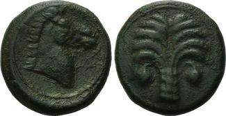 AE 18 4./3. Jh. Chr. Zeugitana, Karthago, Stadt ss
