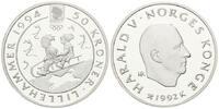 50 Kronen 1992 Norwegen, Olympiade Lilleha...